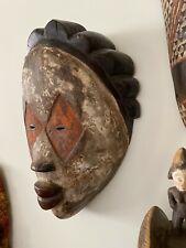 Dramatic Large Punu African Spirit Mask Gabon Mukudji No Reserve