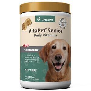 120ct VitaPet NaturVet Senior Dogs Aches Daily Plus Glucosamine Soft Chews