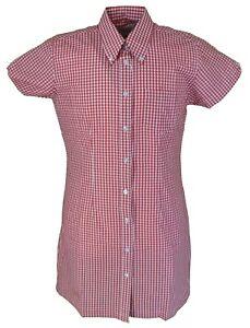 Relco Ladies Red Gingham Retro Shirt Dress