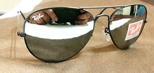 Ray-Ban RB3026 Aviator Large Sunglasses Gunmetal/Silver Flash Mirror new w/case