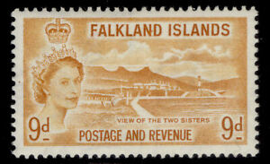 FALKLAND ISLANDS QEII SG191, 9d orange-yellow, M MINT. Cat £11.