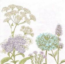 2 single paper napkins for decoupage collection pretty Flowers Herbarium plants
