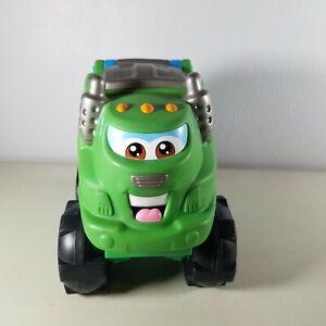 Tonka Chuck & Friends Soft Squishy Green Garbage Truck Racing Rowdy 2002 Works