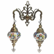 Turkish Moroccan Style Mosaic Double Wall Light Lamp - UK TOP SELLER