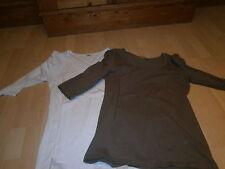 Shirts Gr. 40 2er Pack weiß u. schlamm