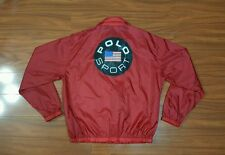 Vintage 80s POLO SPORT Ralph Lauren Windbreaker Jacket mens M SPELL OUT USA Flag