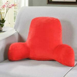 Big Backrest Reading Bed Rest Pillow With Arms, Plush Memory Foam Fill