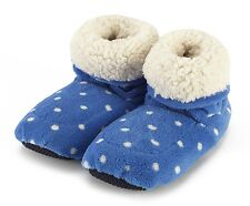Intelex Sherpa Microwavable Blue Boots Slippers Heatable Soft Bed Feet Warmer