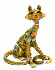 Nano Lopez - Lucy without Rug - Cat - Bronze Sculpture