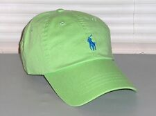 POLO RALPH LAUREN Men Chino Classic Hat, Sport Baseball Ball Cap, Lime Green NWT