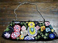 New York & Company Beaded Sequin Clutch Evening Shoulder Bag Handbag Purse bling