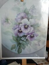 China Painting Study - Pansies by Sando