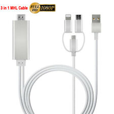 MHL IOS Type C Micro USB to HDMI 1080p HD TV Adapter Cable For iPhone Samsung LG