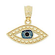 Charm America - Gold Evil Eye Charm with Enamel Eye, 10 Karat Solid Gold