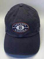 Detroit Tigers Blue Vintage Look Adjustable Adult Baseball Cap Hat Strap-back 47
