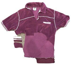ELVIS PRESLEY Piece of Owned & Worn Shirt Short Sleeve Purple Velour 1960s LOA