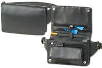 Rimbaldi® kompakte, flache Bauchtasche aus weichem Nappa Leder in Schwarz