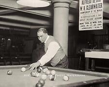 BILLIARD WORLD CHAMPIONSHIP VINTAGE PHOTO W.H. CLEARWATER 1911 8x10 #21725