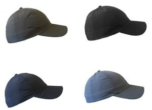ADULT WATER PROOF BASEBALL HAT UNISEX SHOWER PROOF CAP POLYESTER CURVED PEAK CAP