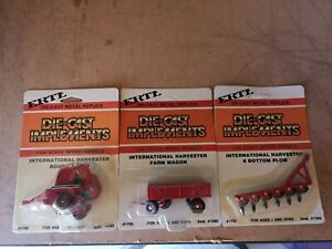 Die cast - farm implements - ERTL - x 3 - Nos 1755/1758/1757 all new 1/64th