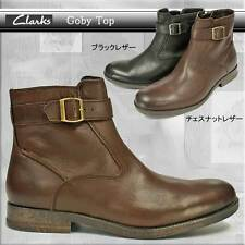 CLARKS ** GOBY TOP ** 100%WARM LINING ** BROWN SOFT LEATHER ** UK 10.5 / true 11