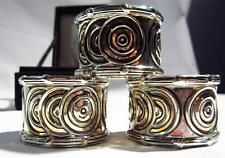 Bombay Company Silverplate napkin rings by Godinger-set of 4 in box
