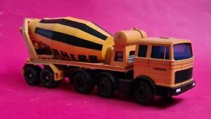Conrad Mercedes Benz Artic Cement Mixer Truck, Liebherr, 1:50 Scale Diecast