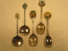 (Lot of 5) Collector Spoons Montana Vegas Utah Michigan Minnesota [Z45c7]