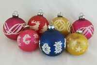 Vintage Shiny Brite Christmas Ornaments Lot of Mercury Glass & Mica 2.25 & 2.65""