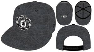 Manchester United New Era 9Fifty Charcoal Flat Peak Snapback Baseball Hat