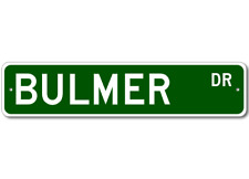 BULMER Street Sign - Personalized Last Name Signs