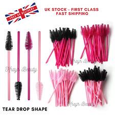 Tear Drop Eyelash Brush Disposable Lash Extension Wand Mascara Spoolers UK STOCK