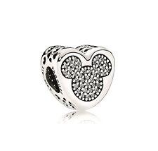 NEW! Authentic Pandora DISNEY Mickey & Minnie True Love CZ Charm #792050CZ $80