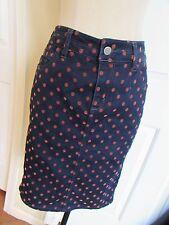 Anthropologie Pilcro & the Letterpress Dotted Denim Dark Jean Pencil Skirt Size?