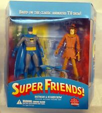 DC Direct - Deluxe Superfriends! Batman & Scarecrow Set Batplane TV Show (MISB)