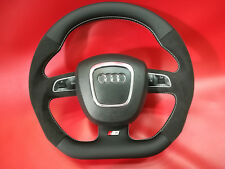 Flat bottom Alcantara AUDI A3 A4 A5 S4 S5 A6 S6 RS SEAT steering wheel S-line