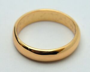 NEW 18K 750 GOLD WEDDING RING IN JEWELRY BOX SCRAP