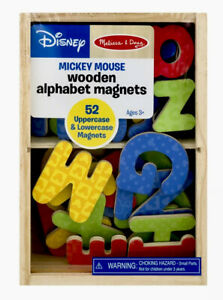 🎈Disney Mickey Mouse Wooden Colorful Alphabet Magnet Set Of 52 By Melissa & Dog
