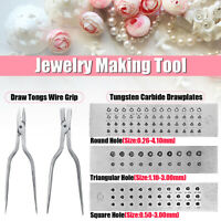 Carbide Steel Drawplate Set Round Square Triangular Jewelry Tool Drawning   .m