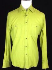 TURNBULL & ASSER LONG SLEEVE BUTTON FRONT SHIRT MENS XL MADE IN ITALY COTTON