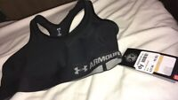 🔥RRP £37.99 Under Armour Sports Bra Size 10(Small) BNWT Activewear Gym Running