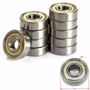 10Pcs 623zz 624zz 625zz 626zz 688zz Deep Groove Ball Bearing Miniature Bearings~