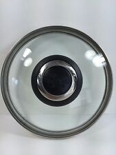 """Glass Pot/Pan Lid 5 1/2""""/5 13/16"""" The Pampered Chef, Black Handle. Stainless Rim"""