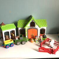 ELC Happyland Farm Bundle Building Barn Tractor Fence 6 Animals 2 Figures