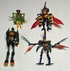 4 DIFF Transformer Beast Wars Figures LOT Night Slash Skydive Injector Buzzclaw