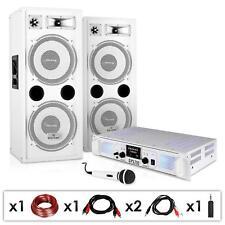 PACK PRO DJ PA SONO COMPLET AMPLI USB SD MP3 2X ENCEINTES HP 3 VOIES 1000W MICRO