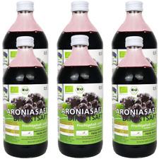 Aroniasaft Bio 6x500 ml Direktsaftaus frischen Aroniabeeren  von Heide Aronia