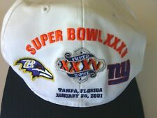 NFL Ravens V Giants Super Bowl Baseball Cap Tampa Florida Jan 28 2001 Adjustable