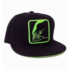 OFFICIAL ALIEN - GREEN JAW OUTLINE BLACK SNAPBACK CAP (BRAND NEW)