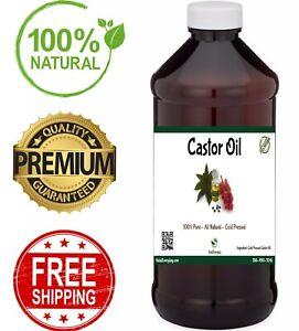 Castor Oil - 100% Pure Cold Pressed Premium USP Grade Hexane Free Hair Body BULK